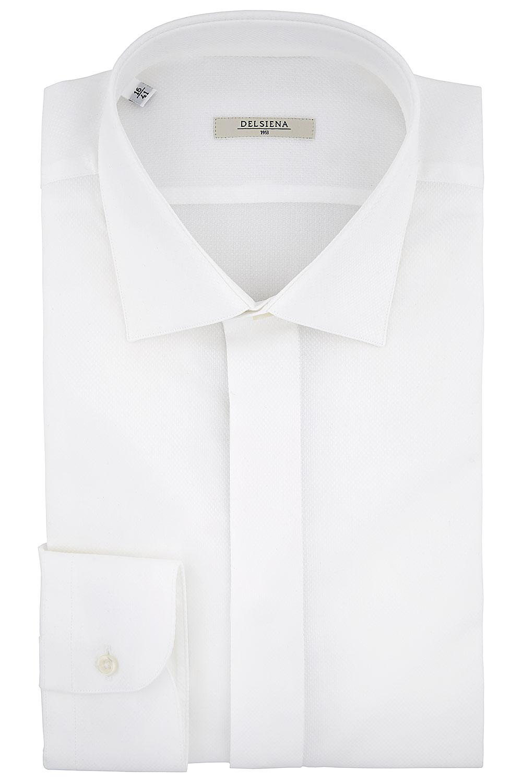 Camicia Delsiena coll. 68 bianca cannoncino impermeabile