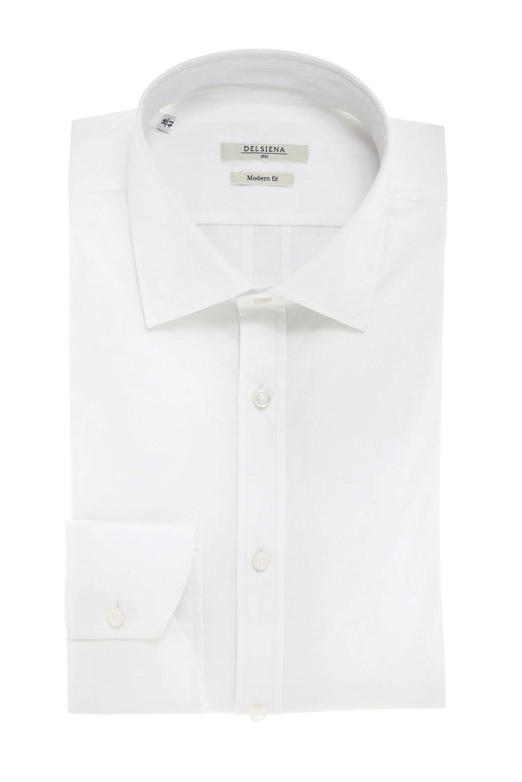 Camicia bianca con cannoncino Delsiena
