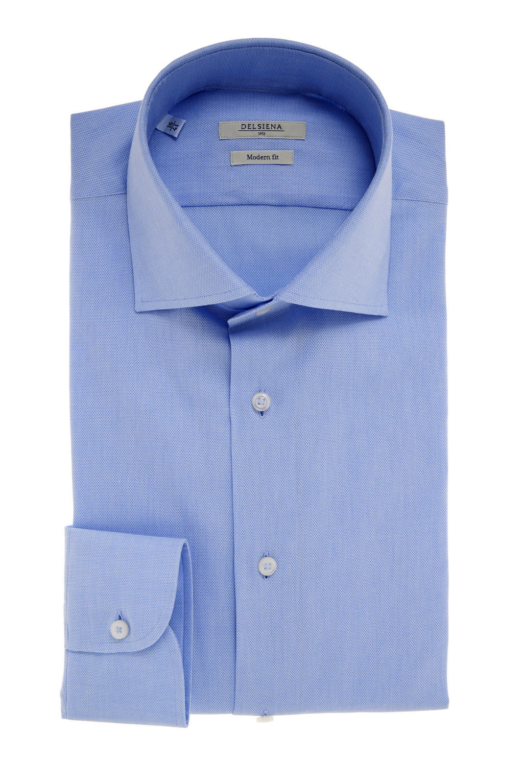 Camicia Delsiena azzurra collo francese