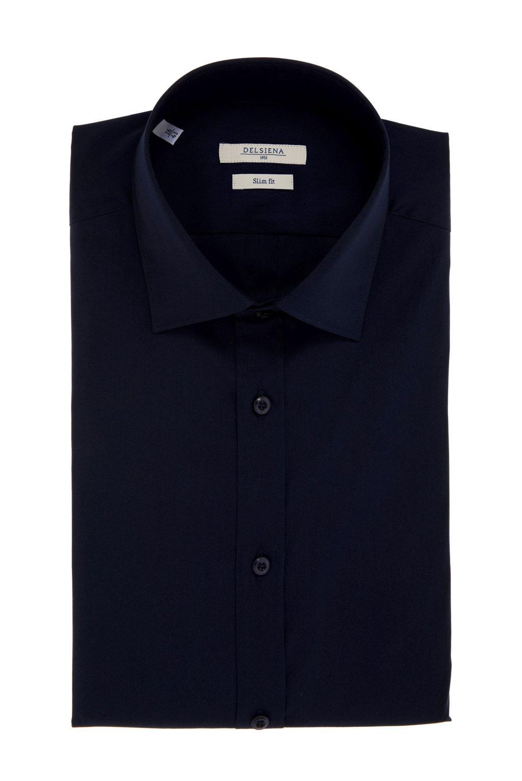 Camicia Delsiena blu notte Slim fit