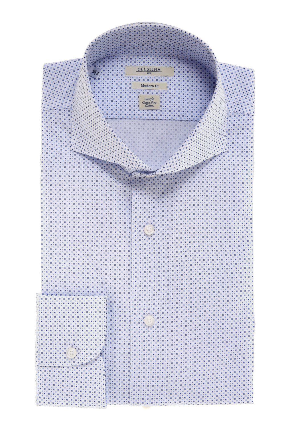Camicia Delsiena azzurra primavera estate 2017