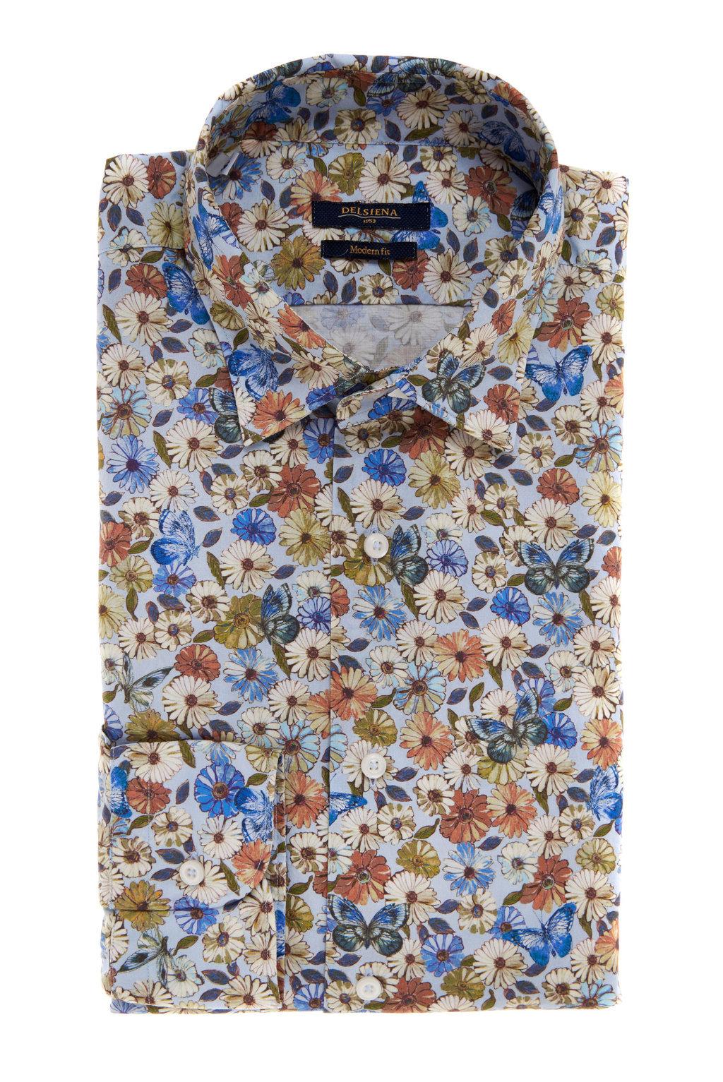 Camicia Delsiena a fiori collezione primavera estate 2017