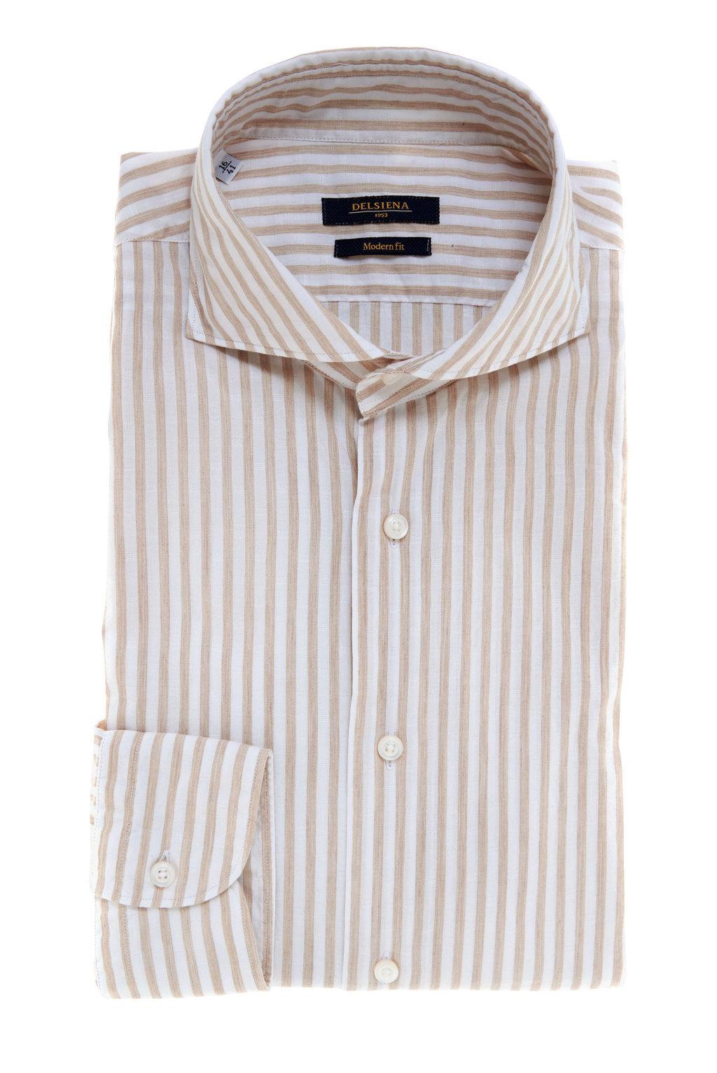 Camicia uomo a righe estiva Delsiena