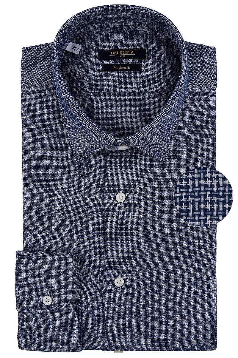 camicia delsiena blu