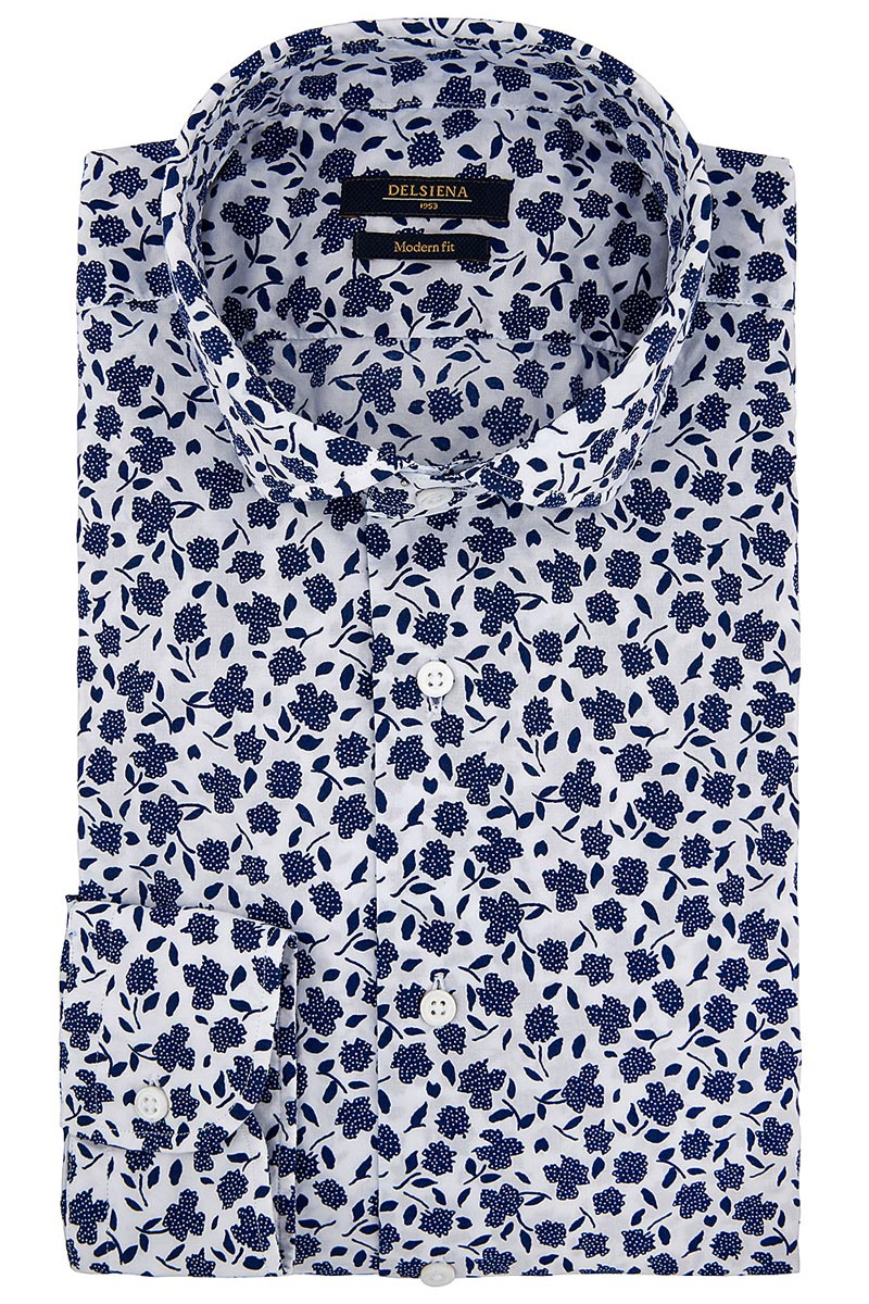 camicia delsiena floreale blu