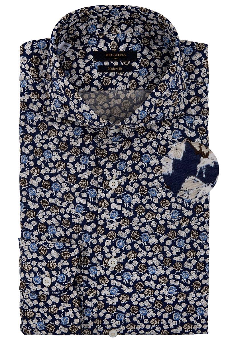 camicia delsiena a fiori